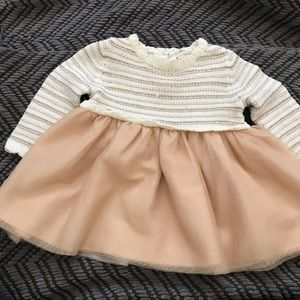 Babygirl Gold and cream dress